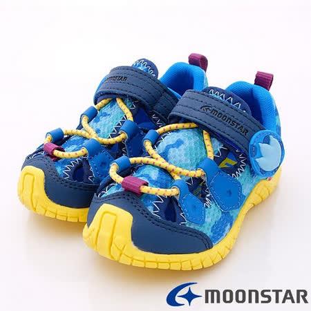 日本Carrot機能童鞋-輕量透氣款-CRC21175藍(16cm-20cm)
