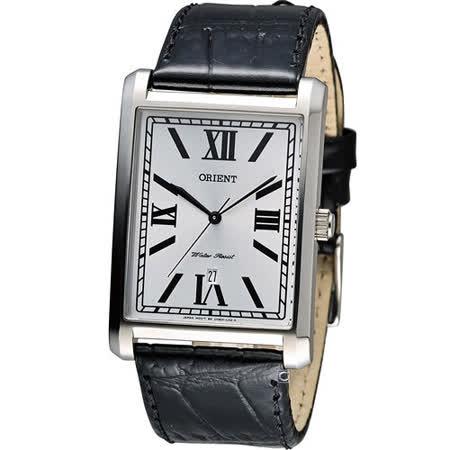 東方錶 ORIENT 典雅大方形時尚錶 FUNEM003W