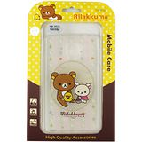 Rilakkuma 拉拉熊/懶懶熊 Samsung Galaxy Note Edge 彩繪透明保護軟套-花草優雅熊