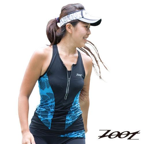 2015 ZOOT 碳纖CC肌能 鐵人上衣  黑/水藍   女  三鐵 Z1506001