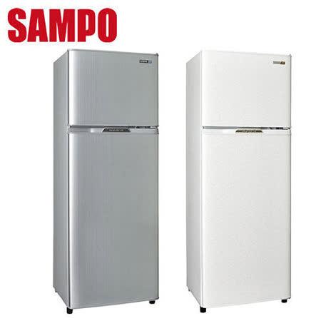 [促銷]SAMPO聲寶 250公升省電節能1級雙門冰箱SR-L25G(W2)(S2)送安裝