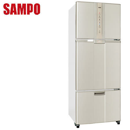 【好物推薦】gohappy 線上快樂購[促銷]SAMPO聲寶 455公升一級變頻三門冰箱SR-N46DV(Y2)送安裝評價怎樣台中 遠 百