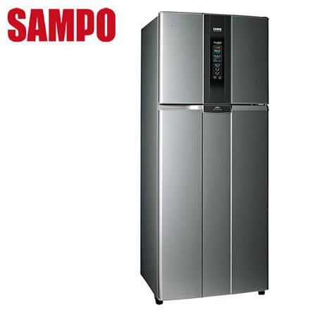 [促銷]SAMPO聲寶 530L變頻負離子雙門冰箱SR-L53D(S3)送安裝