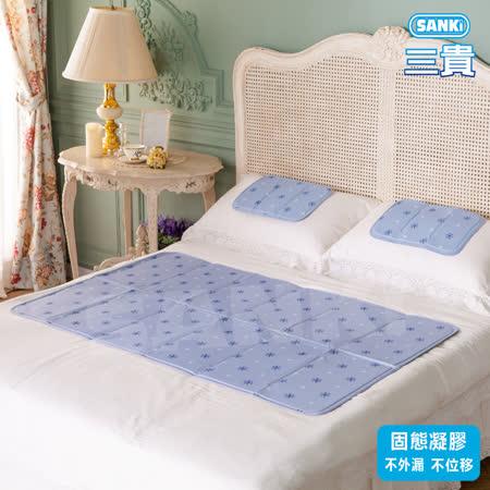 日本SANKi 冰涼床墊組-薰衣草風1床+2枕