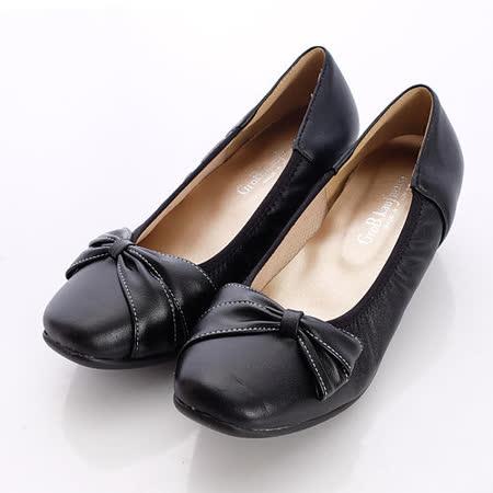 日本製輕熟女機能鞋-通勤OL小羊皮女鞋-3771BL黑(22cm-24.5cm)