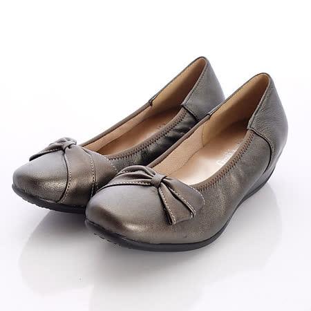 日本製輕熟男女機能鞋-通勤OL小羊皮女鞋-3771BZ黑金(22cm-24.5cm)