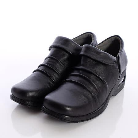 日本製輕熟男女機能鞋-通勤OL小羊皮女鞋-2805BL黑(22cm-24.5cm)