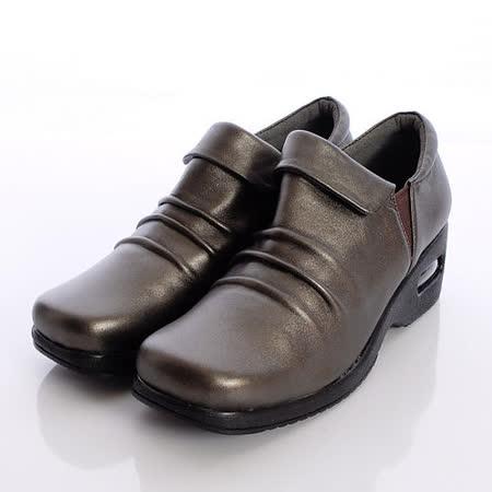 日本製輕熟男女機能鞋-通勤OL小羊皮女鞋-2085BZ黑金(22cm-24.5cm)