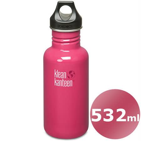 (任選)美國Klean Kanteen 不鏽鋼瓶532ml_海葵桃