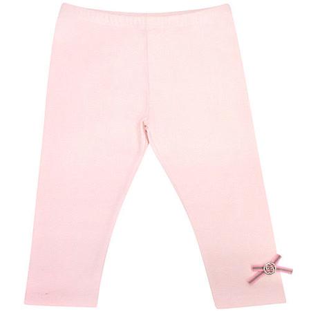 GUCCI 雙G蝴蝶結嬰幼兒長褲(9/12 MONTHS)(粉紅色)