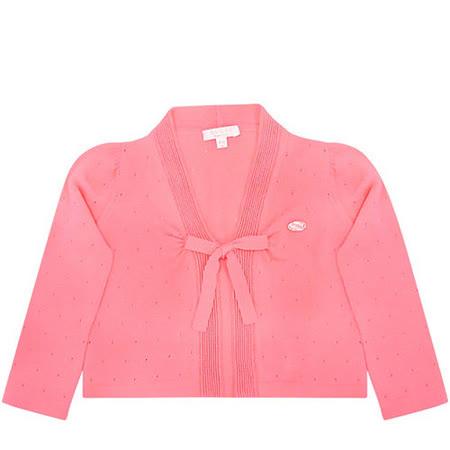 GUCCI 嬰幼兒綁帶針織外套(9/12 MONTHS)(粉桃色)