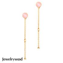 Jewelrywood 純銀拜占庭復古玫瑰石英耳環