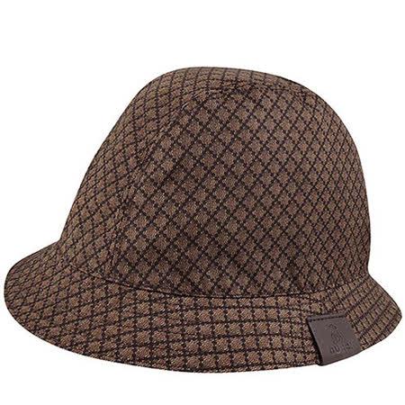 GUCCI 菱格紋Kids系列漁夫帽(L)(巧克力色)