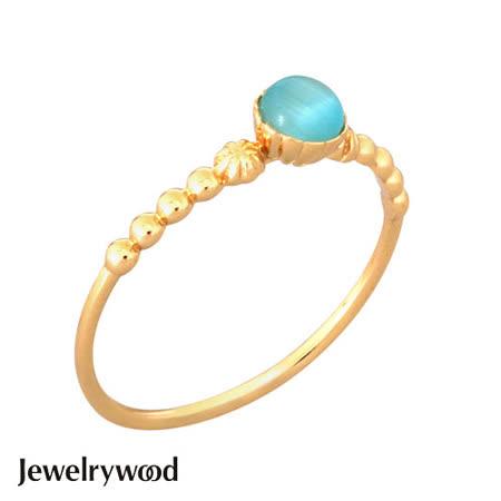 Jewelrywood 純銀拜占庭復古海藍寶戒指