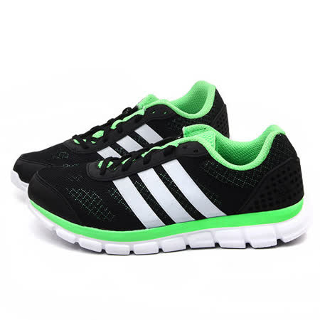 Adidas 男款Breeze 202 輕量慢跑運動鞋B40300-黑綠