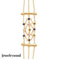 Jewelrywood 純銀波西米亞mesh幻彩手鍊