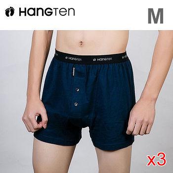 ★3件超值組★HANG TEN 精梳棉針織五片式平口褲M