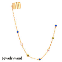 Jewelrywood 純銀波西米亞mesh幻彩耳環
