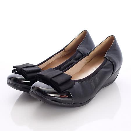 日本製輕熟女機能鞋-通勤OL小羊皮女鞋-GBK3773BL黑(22cm-24cm)