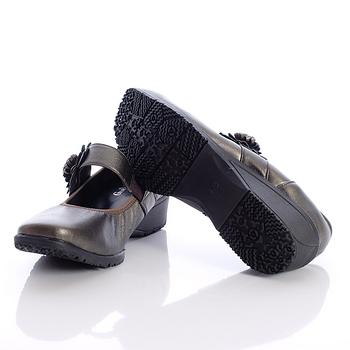 日本製輕熟女機能鞋-通勤OL小羊皮女鞋-2772BZ黑金(22cm-24.5cm)