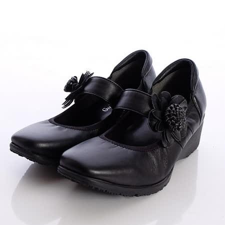 日本製輕熟女機能鞋-通勤OL小羊皮女鞋-2772BL黑(22cm-24.5cm)