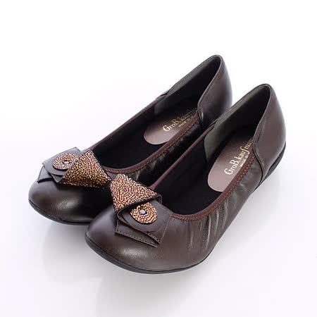 日本製輕熟女機能鞋-通勤OL小羊皮女鞋-5050DBR咖啡(22cm-24.5cm)