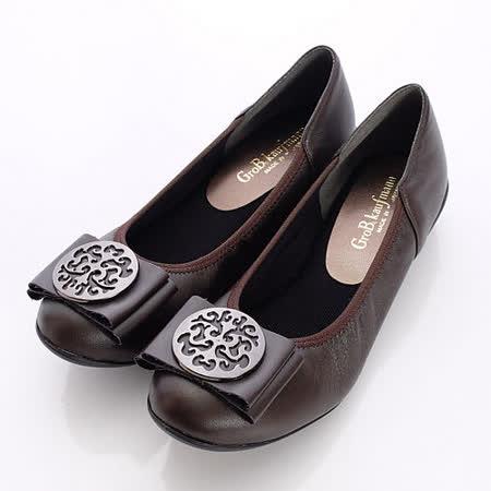 日本製輕熟女機能鞋-通勤OL小羊皮女鞋-5052DBR咖啡(22cm-24cm)