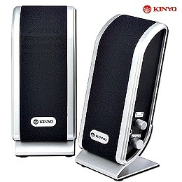 KINYO黑色迷情二件式防磁擴大音箱(PS-280)