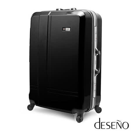 【Deseno】光燦魔力SkyWalker系列24吋超輕量PC鏡面行李箱(黑色)