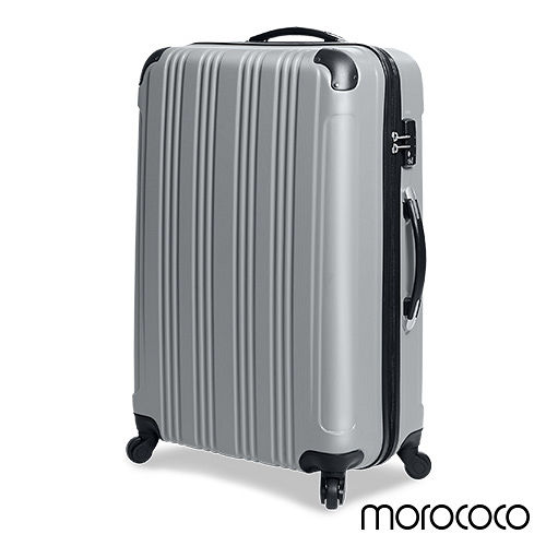 MOROCOC桃園 遠東 百貨 電話O時尚演譯-28吋防刮ABS鑽紋商務行李箱(淺灰)