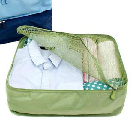 防潑水透氣網格衣物收納袋-綠色