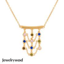 Jewelrywood 純銀波西米亞mesh幻彩項鍊