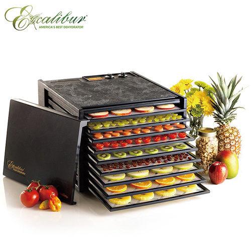 《Excalibur》伊卡莉柏全營養低溫乾果機九層-黑 (3926TB)/贈調理機
