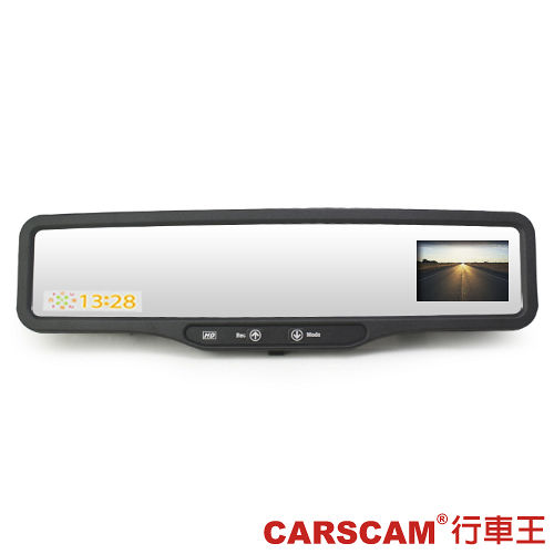 CARSCAM行車王 HDVR行車紀錄器品牌推薦-210 高畫質後視鏡型測速行車記錄器