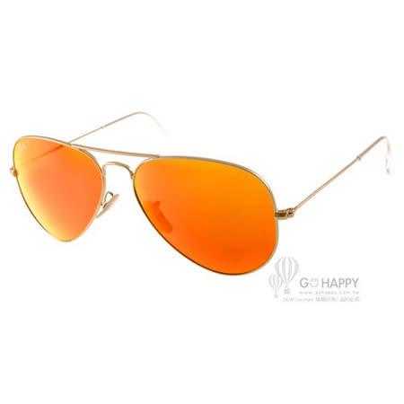 RAY BAN太陽眼鏡 飛官水銀鏡面偏光款(金) #RB3025 1124D -58mm