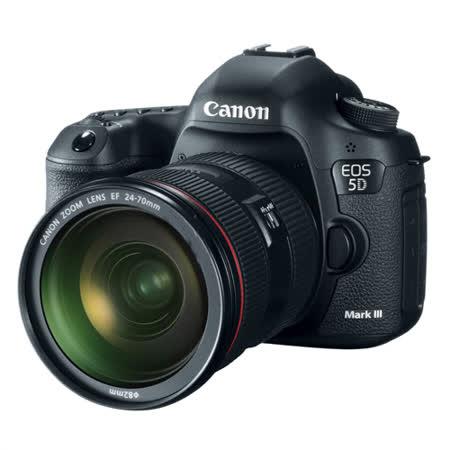 Canon EOS 5D Mark III+ 24-70mm(中文平輸) - 加送SD64GC10+專用鋰電池*2+單眼包+專屬拭鏡筆+減壓背帶+大吹球+數位清潔組+硬式保護貼