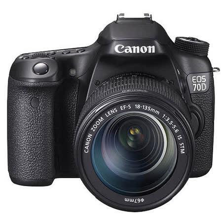 Canon EOS 70D 18-135mm STM變焦鏡組(中文平輸)-加送專屬鋰電池+單眼相機包+大吹球+清潔組+硬式保護貼