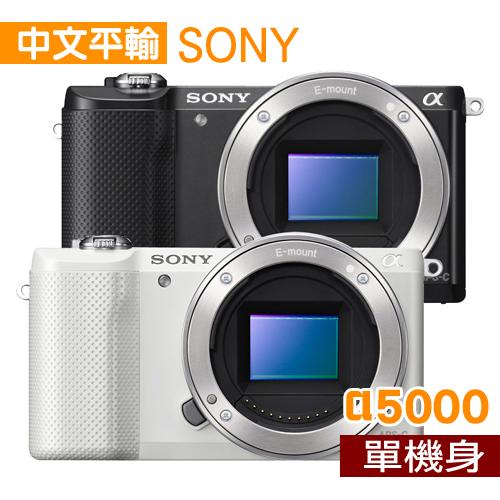 SONY A5000 單機身^~^(中文平輸^) ~ 加送 鋰電池 相機清潔組 高透光保護