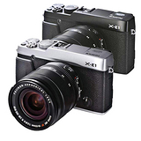 FUJIFILM X-E1+XF 18-55mm 變焦鏡組(中文平輸)-加送32G卡+專用鋰電池+清潔組+硬式保護貼