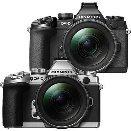 OLYMPUS E-M1+12-40mm變焦鏡組(中文平輸) - 加送SD32G+副廠鋰電池+相機清潔組+硬式保護貼