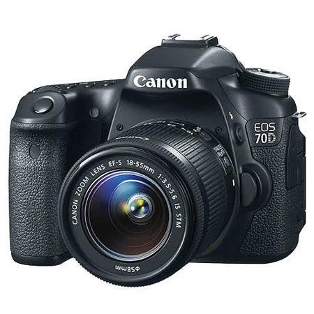 Canon EOS 70D 18-55mm STM組單眼相機(中文平輸) -加送專屬鋰電池+清潔組+硬式保護貼