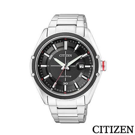 CITIZEN 星辰 優渥男性個性時尚光動能腕錶 BM6890-50E