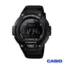CASIO 卡西歐 日系光動能多功能運動錶-黑 W-S220-1B
