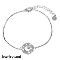 Jewelrywood 純銀現代風鑽石手鍊