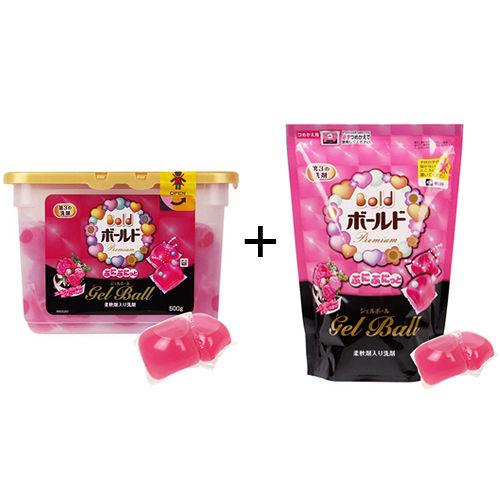 P G洗衣膠球 盒裝437g 補充包437g~粉紅花香^(粉^)