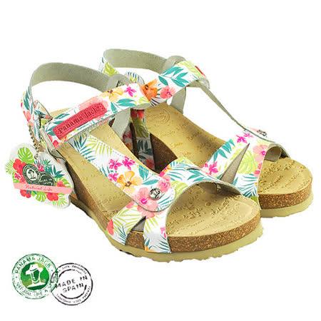 【Panama Jack】Veronik楔形碎花涼鞋(PSW41-BLAW)