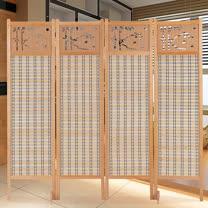 HAPPYHOME 中國風雕刻竹簾屏風602