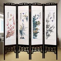HAPPYHOME 中國風國畫四季花彩色雙面屏風617三色可選