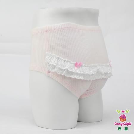 【Anny pepe】女童可愛蕾絲粉色寶寶褲(精梳美國棉)