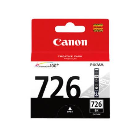 【CANON 佳能】CLI-726BK 原廠黑色墨水匣
